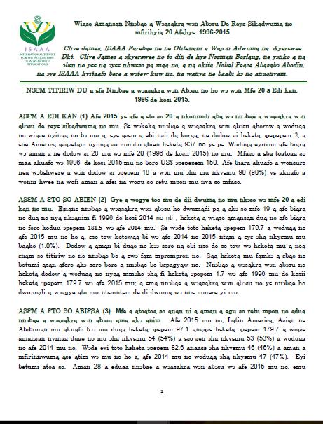 2015 Top Ten Facts About Agri-biotech Crops: Akan (Ghana)
