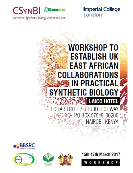 Workshop to Establish UK-East African Collaborations in Practical Synthetic Biology