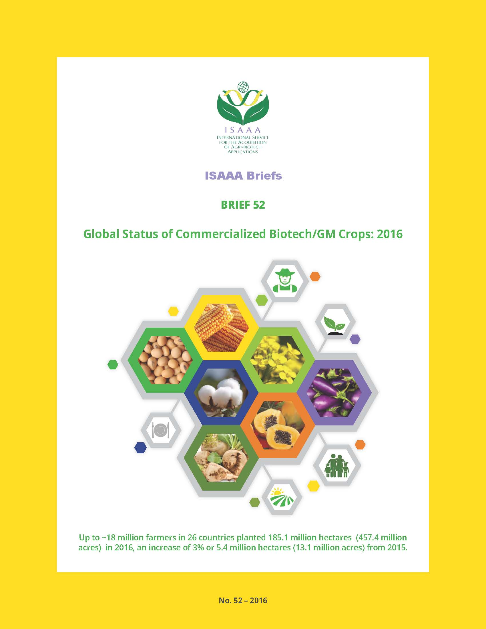 Global Status of Commercialized Biotech/GM Crops: 2016