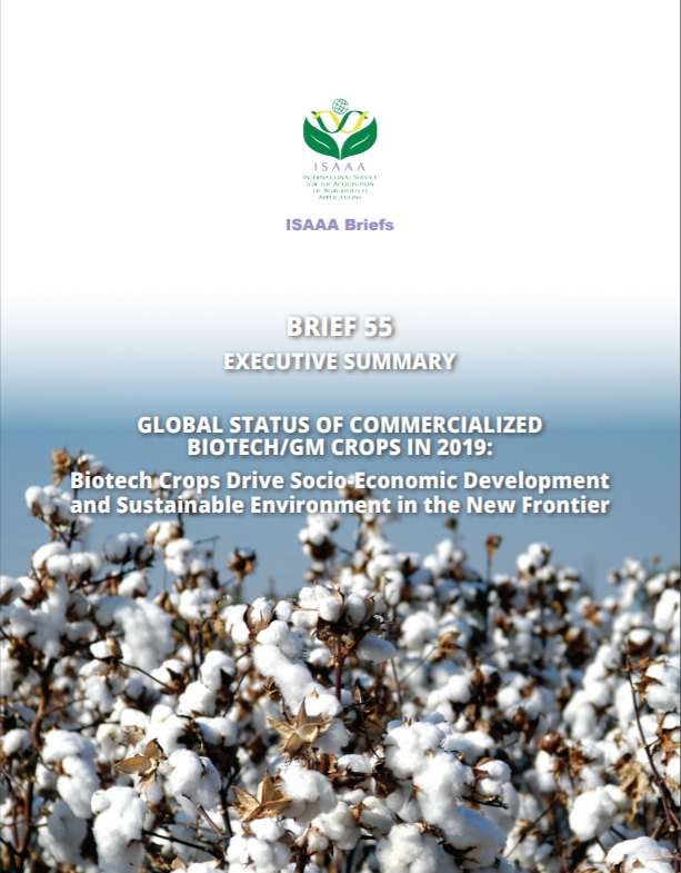 Global Status of Commercialized Biotech/GM Crops in 2019: Executive Summary